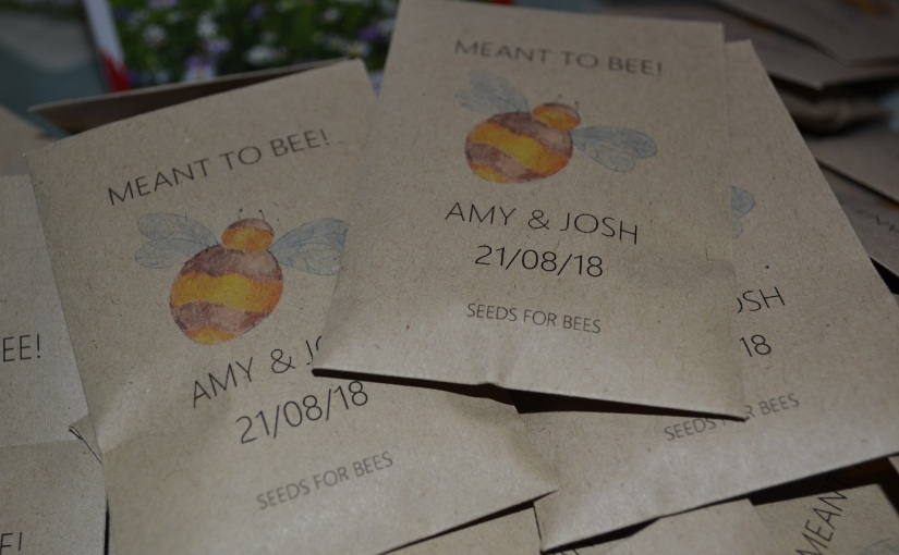 Seeds for bees-wedding favours